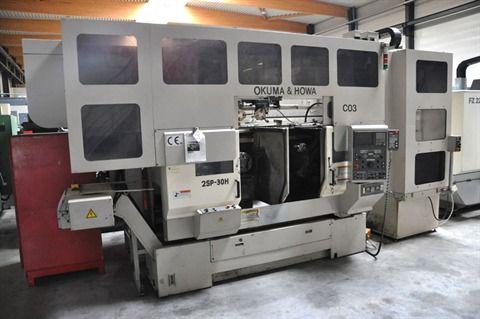 Okuma Fanuc 16 Variable 2SP-30H Twin Spindle CNC + gantry robot 2 Axis