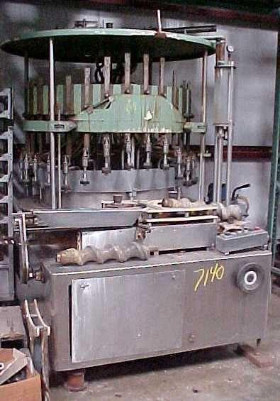 US Bottlers vc-30ls-30 30 head rotary vacuum filler
