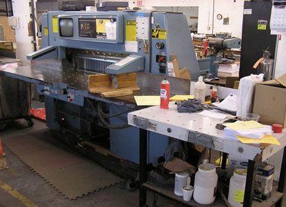Wohlenberg 115, Guillotine Machine, Max 115 cm