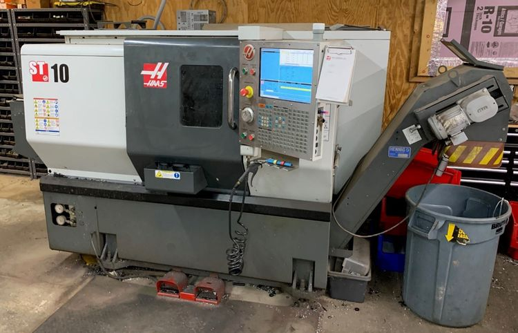 """Haas HAAS 64-BIT CNC CONTROL WITH 15"""" LCD SCREEN 6000 rpm ST-10T 2 Axis"""