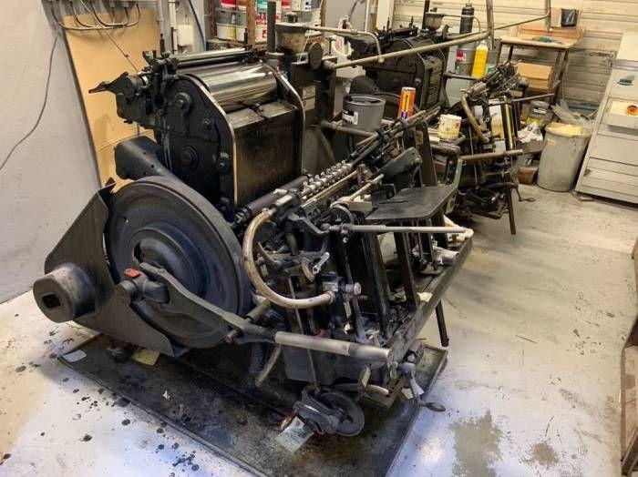 Heidelberg T, Letterpress machine  38 x 26 cm