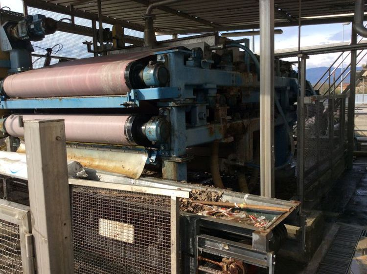 2100 mm Double wire sludge press/ Consistency out: 25-25%
