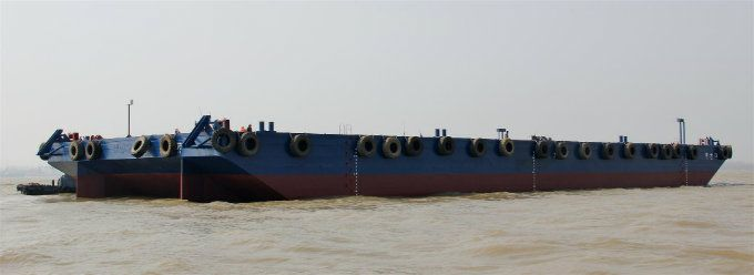 Deck Cargo And Ballast Tank Barge