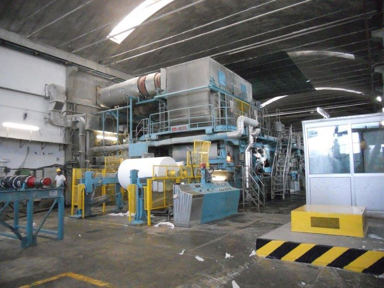 OverMeccanica Complete Tissue Paper Machine with stock prep , 2 rewinders - Price SLASHED down now, must clear space! 2.000 mm 13-35 gsm 45 TPD