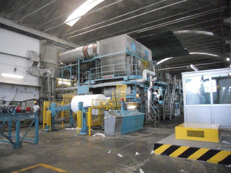 OverMeccanica Complete Tissue Paper Machine with stock prep , 2 rewinders - enormous opportunity! 2.000 mm 13-35 gsm 45 TPD