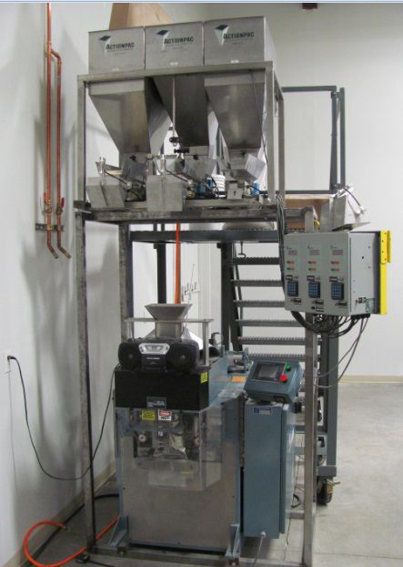Action Pac Scales & Automation three lane vibratory weigh filler