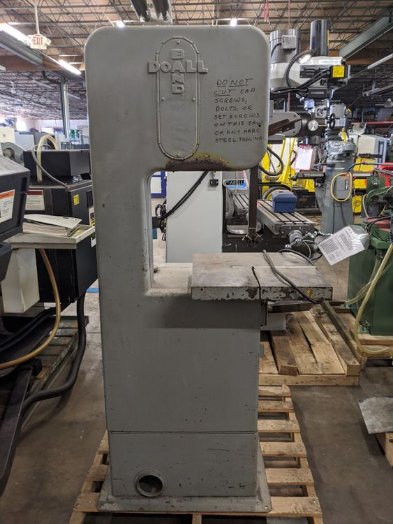 DoAll BF Vertical Bandsaw Semi Automatic