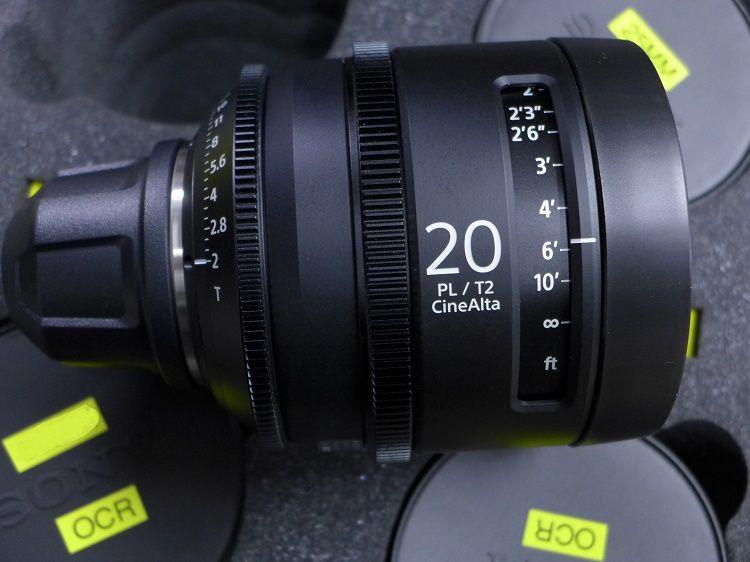 6 Sony SCLT2.0 PL Mount Cine Alta 6 Prime Cine Lens Kit