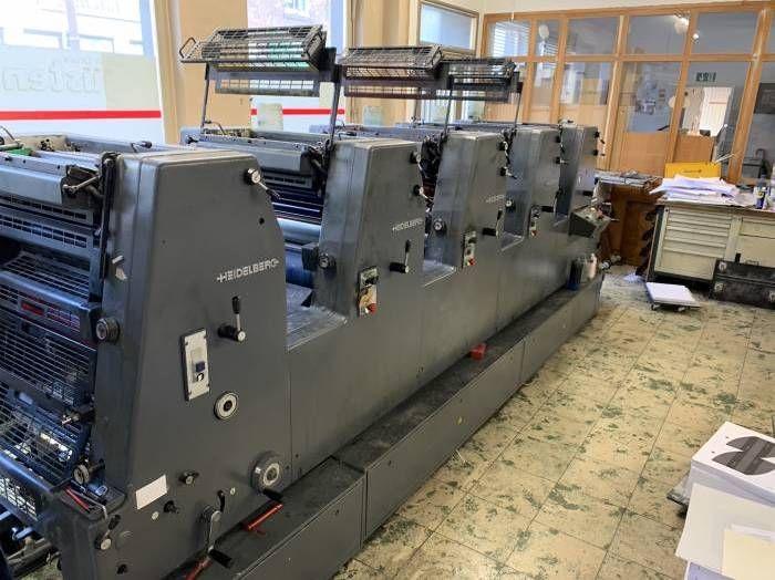 Heidelberg GTO 52-5P, Sheetfed offset machine 5 52 x 36 cm