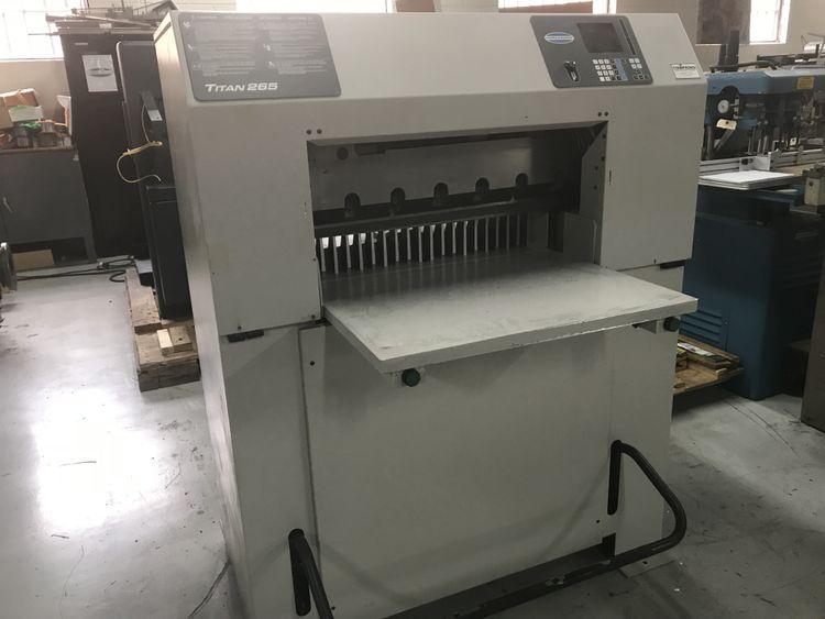 Challenge, Titan 265, Programmable paper cutter