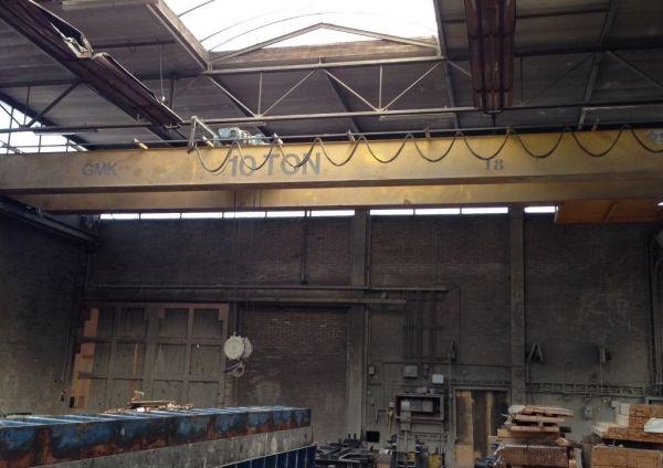 Demag 10 T double girder overhead crane with a span