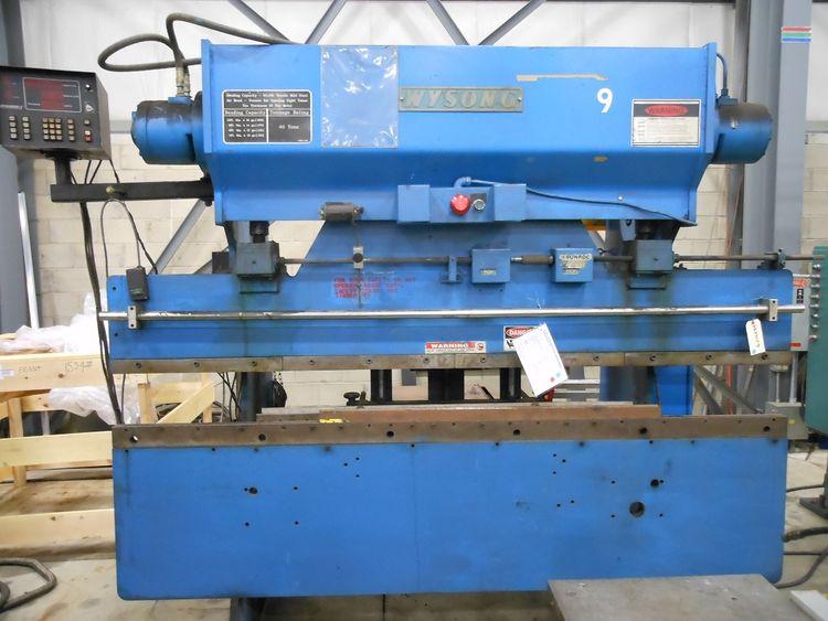 Wysong H-4096 HYDRO-MECHANICAL PRESS BRAKE 40 Ton