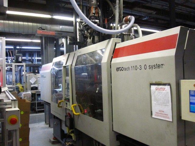 Demag 1100 310H/80 V, 2 Shot Injection Molding Machine 120 Ton