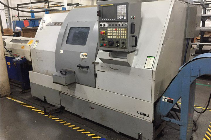 Leadwell Fanuc 0iT CNC Control 4500 RPM T-7 2-Axis Slant Bed