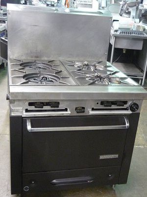 Garland 4 Wide Burner Stove With Oven