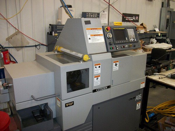 Citizen Fanuc 0iTB CNC Control 6000 rpm A16 CNC Swiss Type Turning Center 2 Axis