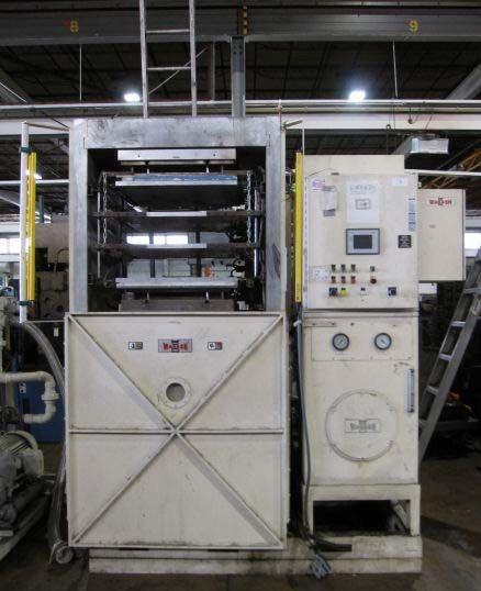 Wabash HYDRAULIC MOLDING & LAMINATING VACUUM PRESS Max. 200 Ton