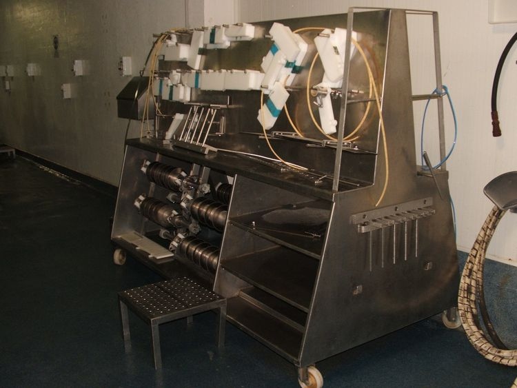 Norfo Norfo Automatic block sawing line for fishblocks or minceblocks 7,5 k