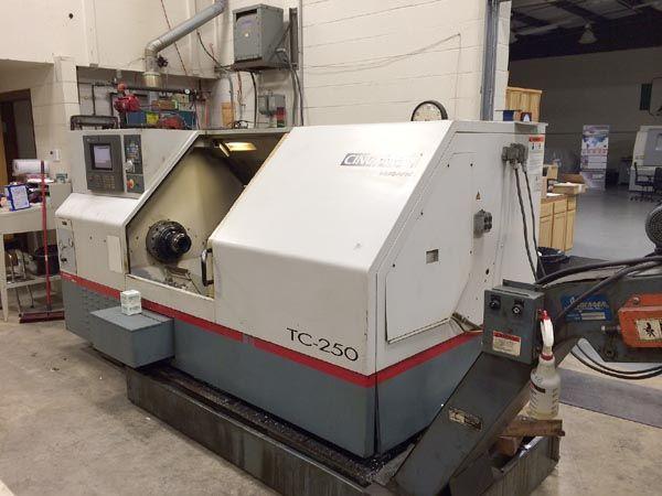 Cincinnati Siemens Acramatic 2100CNC Control with Color CRT 3300 RPM MILACRON `HAWK  250' CNC TURNING CENTER 3 Axis