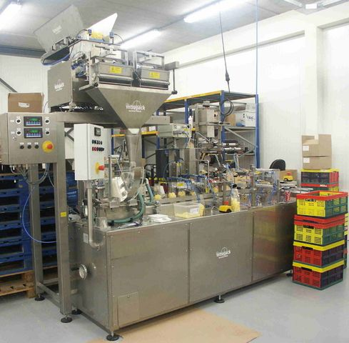 Others SFLU-03 , Block bottom bags fill, seal, folded, eurohol & head labeling machine