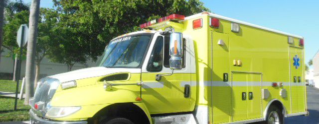 International 4300 Wheeled Coach Fire Rescue Ambulance