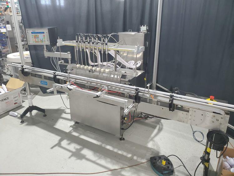Kalish 5000 8 station gear pump filler