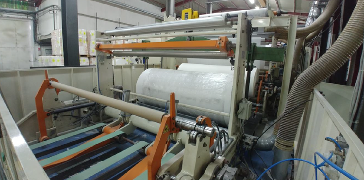 Perini very good Sincro 4.0 complete line w/ lamination,  400m/mn, in production til June 2019!