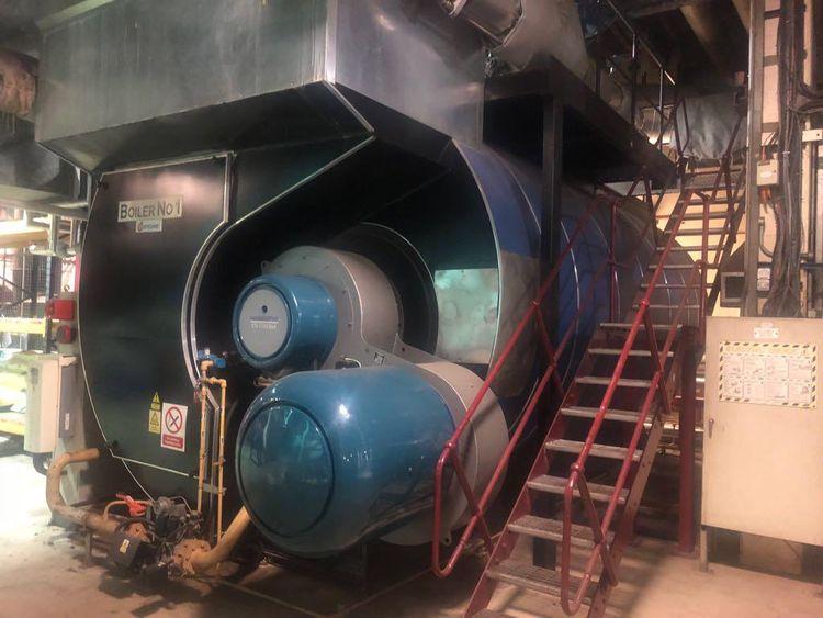 Danstokers high quality gas fired boiler     18 bar 12 ton/ hr