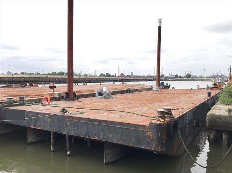 50 m DWT 350 Deck Barge (Flat Top Pontoon)