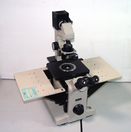 Nikon DIAPHOT-TMD, Biological Inverted Microscope w/ Micromanipulator Stages