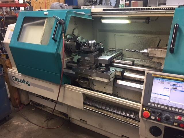 Clausing FANUC 0i-TC CONTROL 3000 rpm CV 2040 CNC FLAT BED LATHE 2 Axis