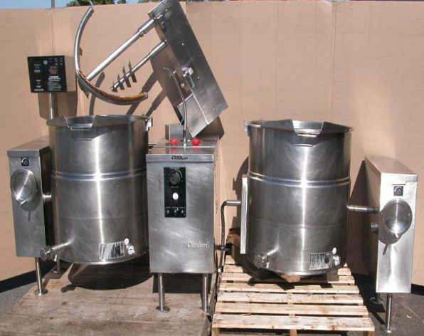 2 Cleveland TMKEL-60T Twin 60 Litre Tilting Electric Kettles