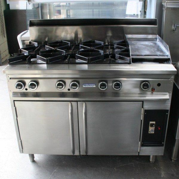 Supertron 6 Burner 300 Grill Jumbo Gas Oven Range