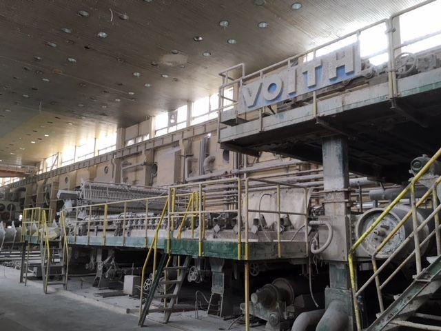Voith Tissue paper machine, rebuilt 2010 4500 mm/ ( Wire 4800 mm ) 18-80 gsm 40 – 80 TPD