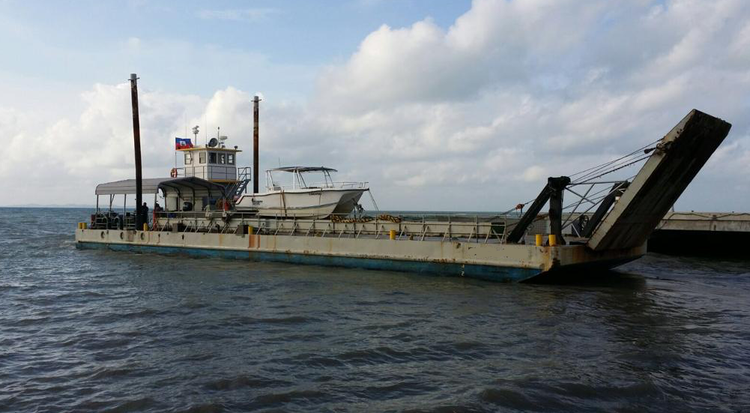 Landing Craft for Sale, 100' with a hydraulically operated 17' ramp