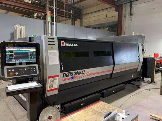 Amada ENSIS-3015AJ Fiber laser cutting system AMNC 3i control