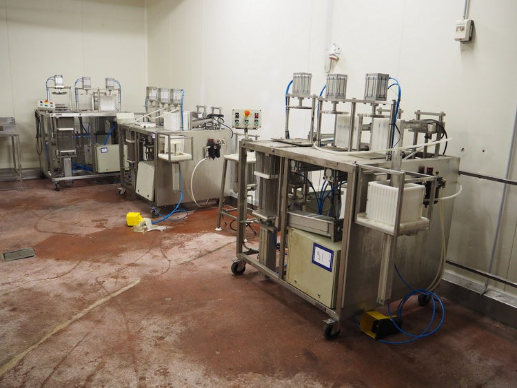 Online auction poultry slaughter line and other machinery