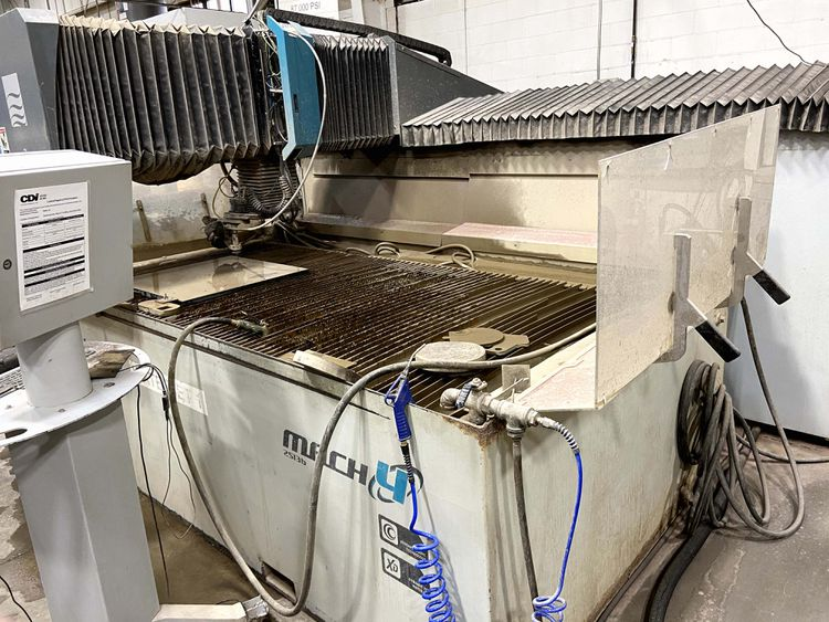 Flow Mach 4 2513B Waterjet Cutting System Flowmaster PC Based CNC Control