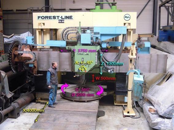 Forest Line Vegamill TA 323 Ø 3240 x H 1350 mm Column CNC Vertical Boring Mill