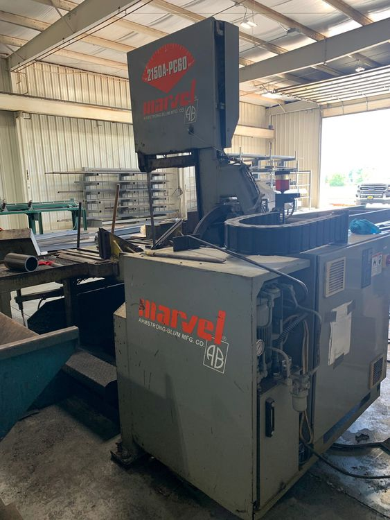 Marvel E2125PC Vertical Band Saw Semi Automatic