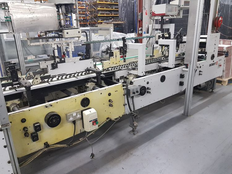Bobst Media 100 II  of 2002, For Production of  Straight Line Crash Lock Cartons & 4 & 6 Corner Cartons, reduced june 2019