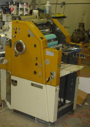 """Ryobi 2800, 1 color Offset machine 11"""" X 17"""""""