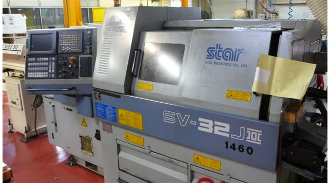 Star Max. 7000 RPM STAR SV 32 JII 3 with c axis (spindle,resolution) : 0.01 ° CNC automatic lathe