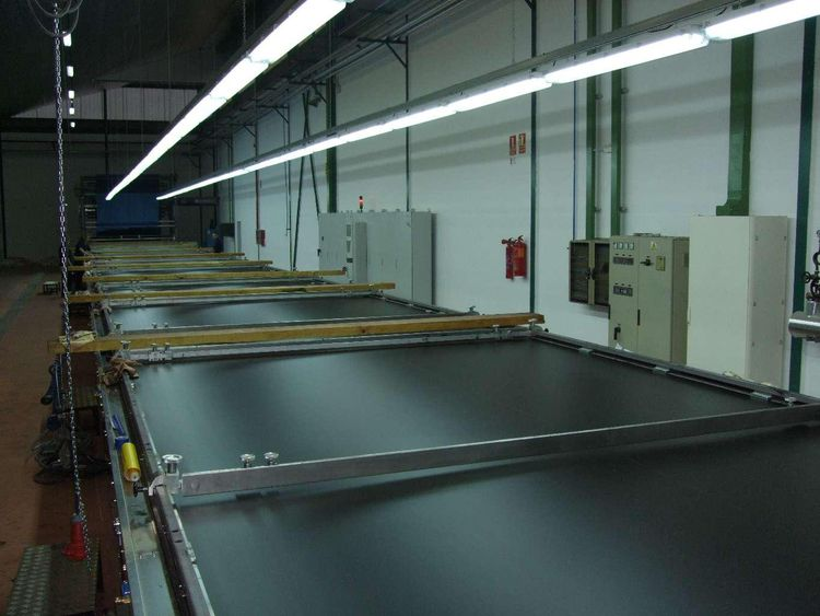 Tacome 320 Cm flat printing line for wide acrylic blanket