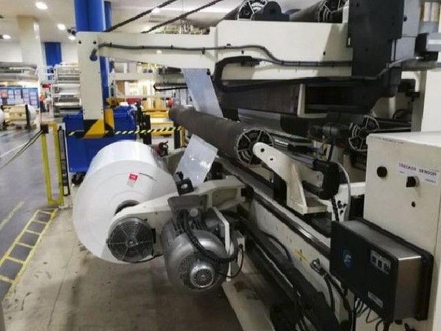 "Deacro CS1000, Rewinder w/ Reel Handling System 106"""