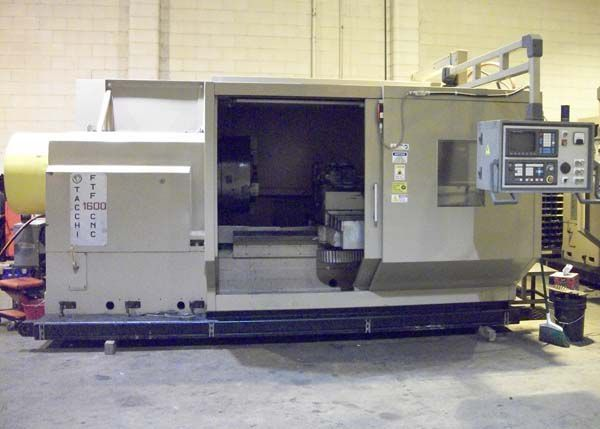 Tacchi CNC Controls 5000 rpm FTF 1600 CNC Chucker. Pipe Threading Lathe. 2 Axis