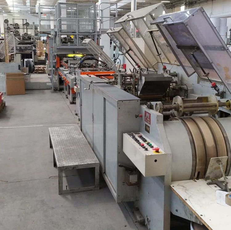 NEWLONG paper bag machine with  twisted handles and top fold - of year 2007