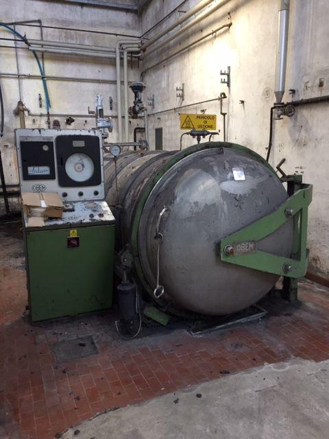 Obem Steamer autoclave 350 Kg