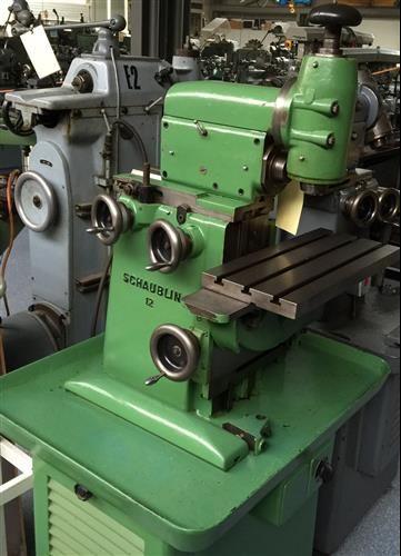 Schaublin 12 Milling Machine