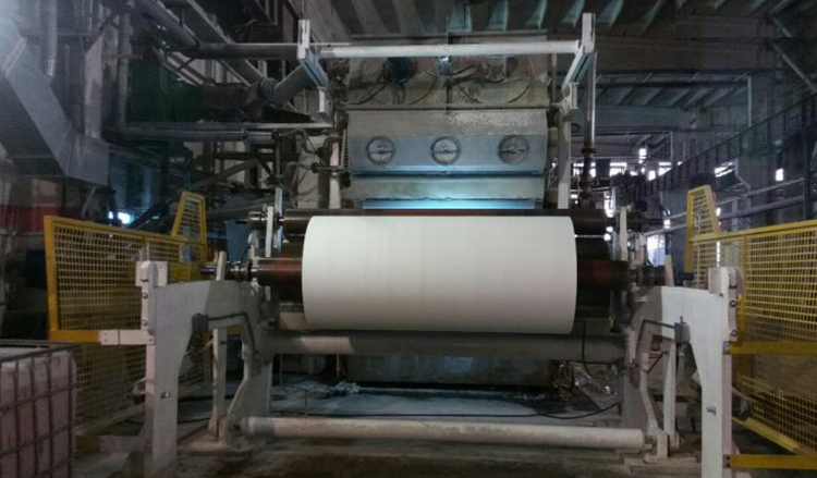 Gambini, OBL 2800 mm 3 ply tissue paper slitter rewinder, of year 2009 ALMOST NEW, in operation til sold !